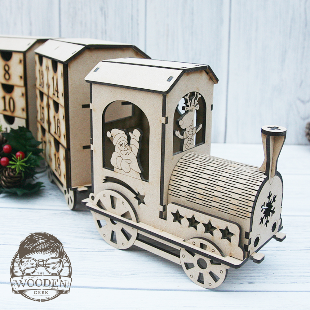 Diy Advent Calendar Train