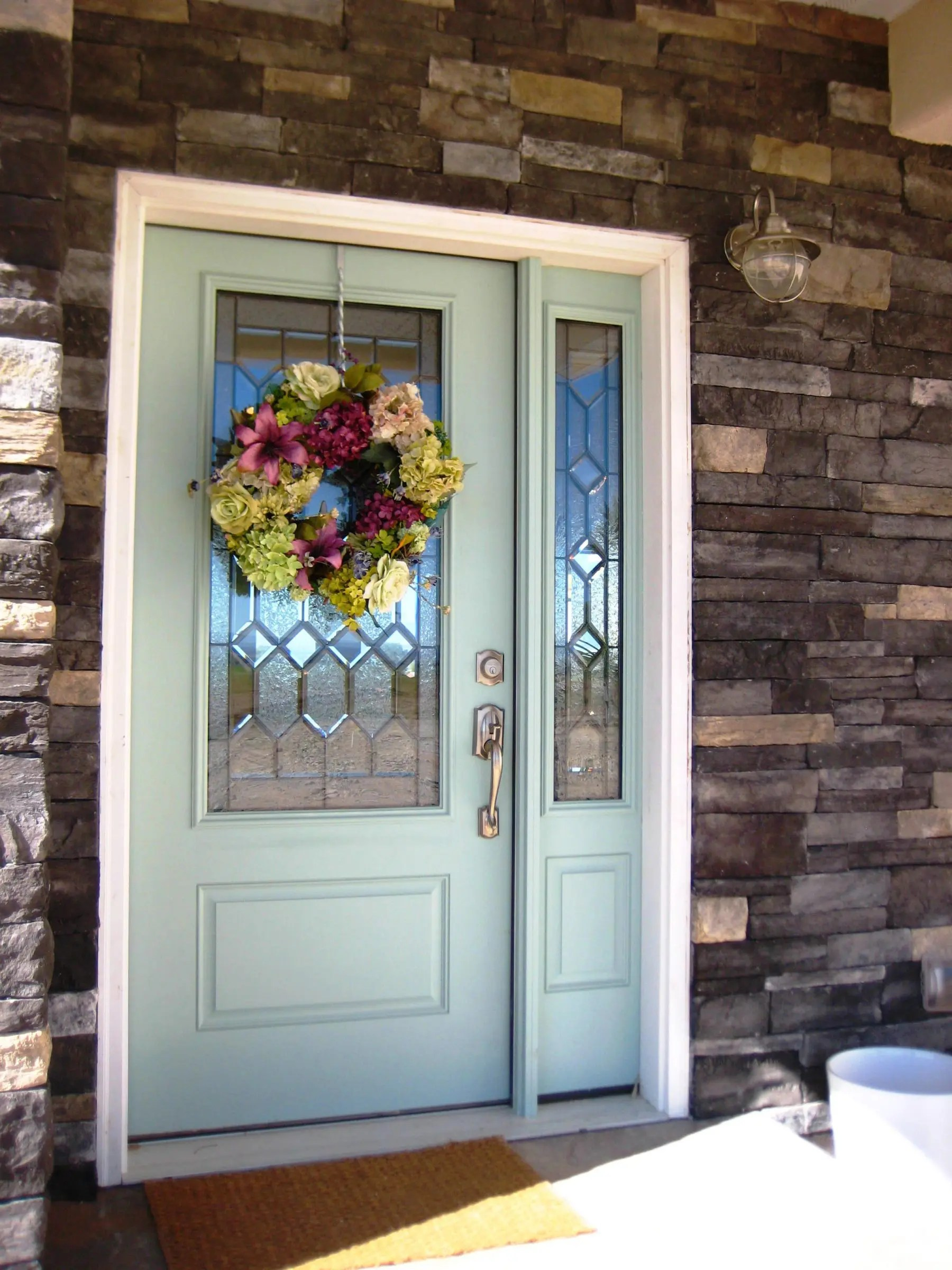 A Painted Front Door The Wood Grain Cottage