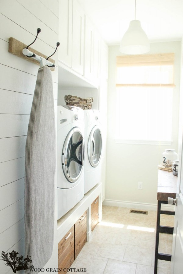 Laundry Room Plank Wall by The Wood Grain Cottage