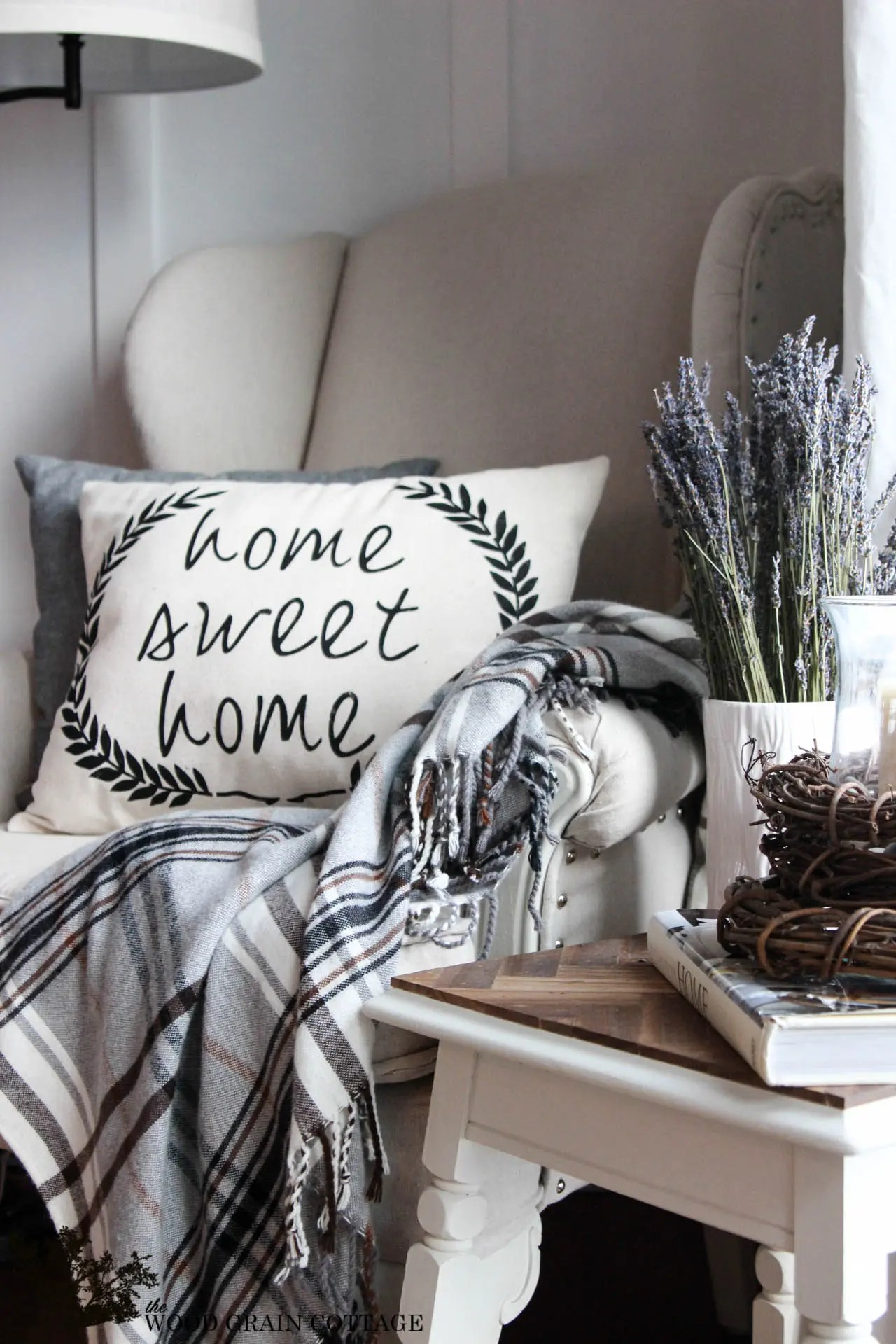 diy home sweet home pillow the wood