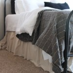 Easy Diy Ruffled Bed Skirt The Wood Grain Cottage