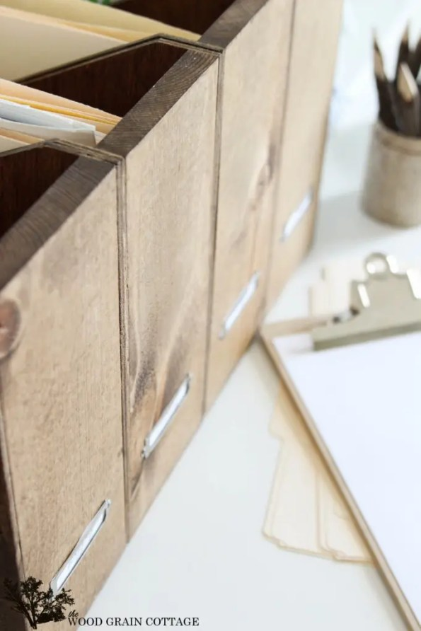 Scrap Wood File Folders by The Wood Grain Cottage