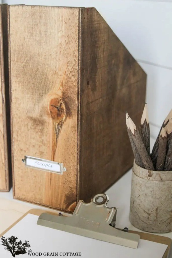 Scrap Wood File Folders by The Wood Grain Cottage