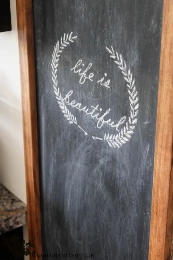 Huge DIY Chalkboard by The Wood Grain Cottage