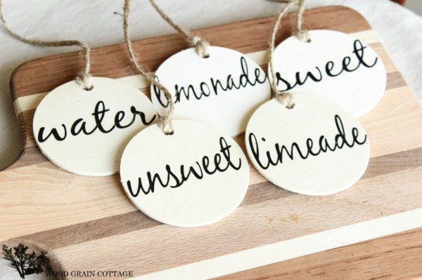 Easy Drink Tags by The Wood Grain Cottage