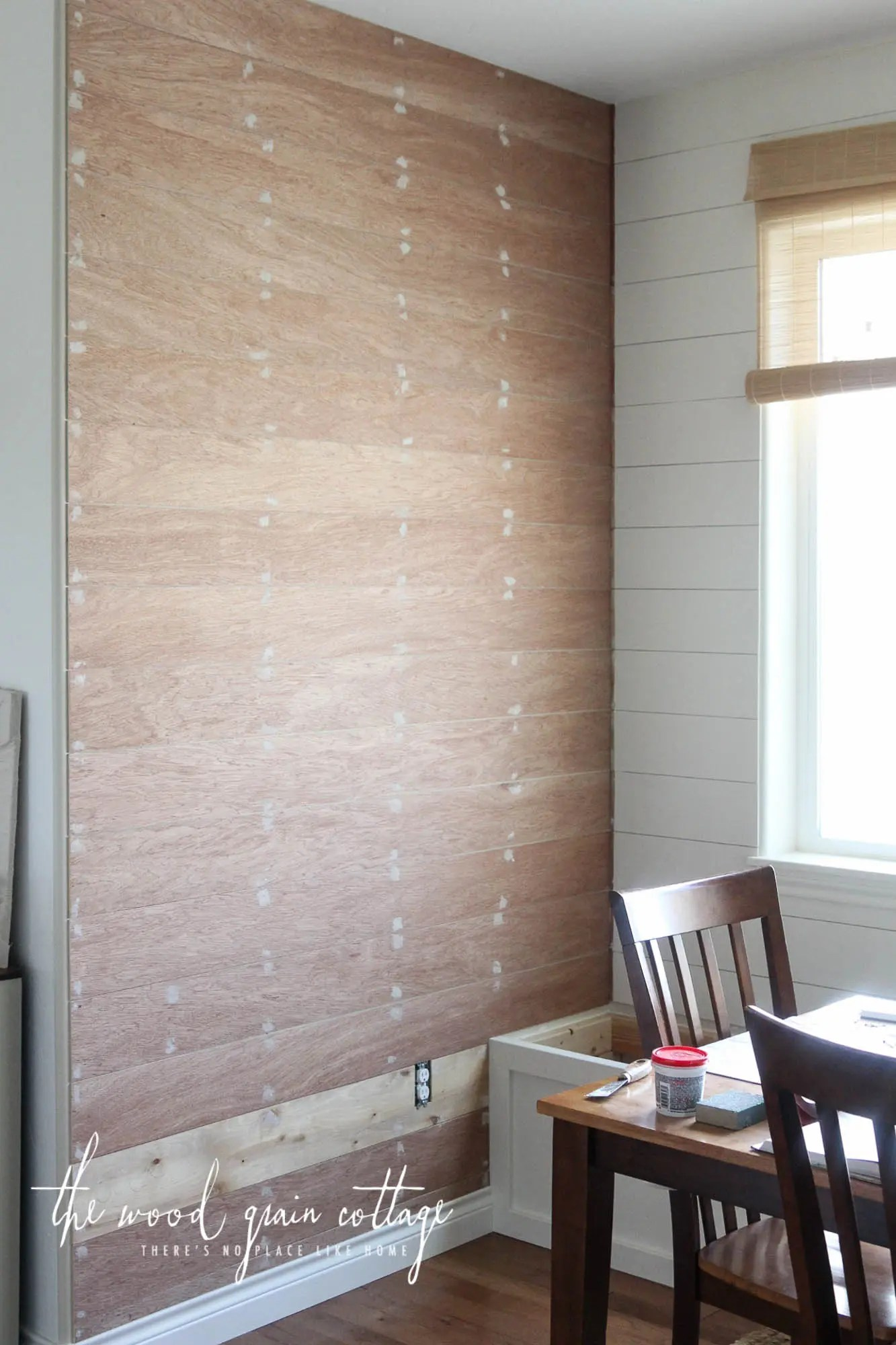 Another Plank Wall In The Breakfast Nook The Wood Grain Cottage