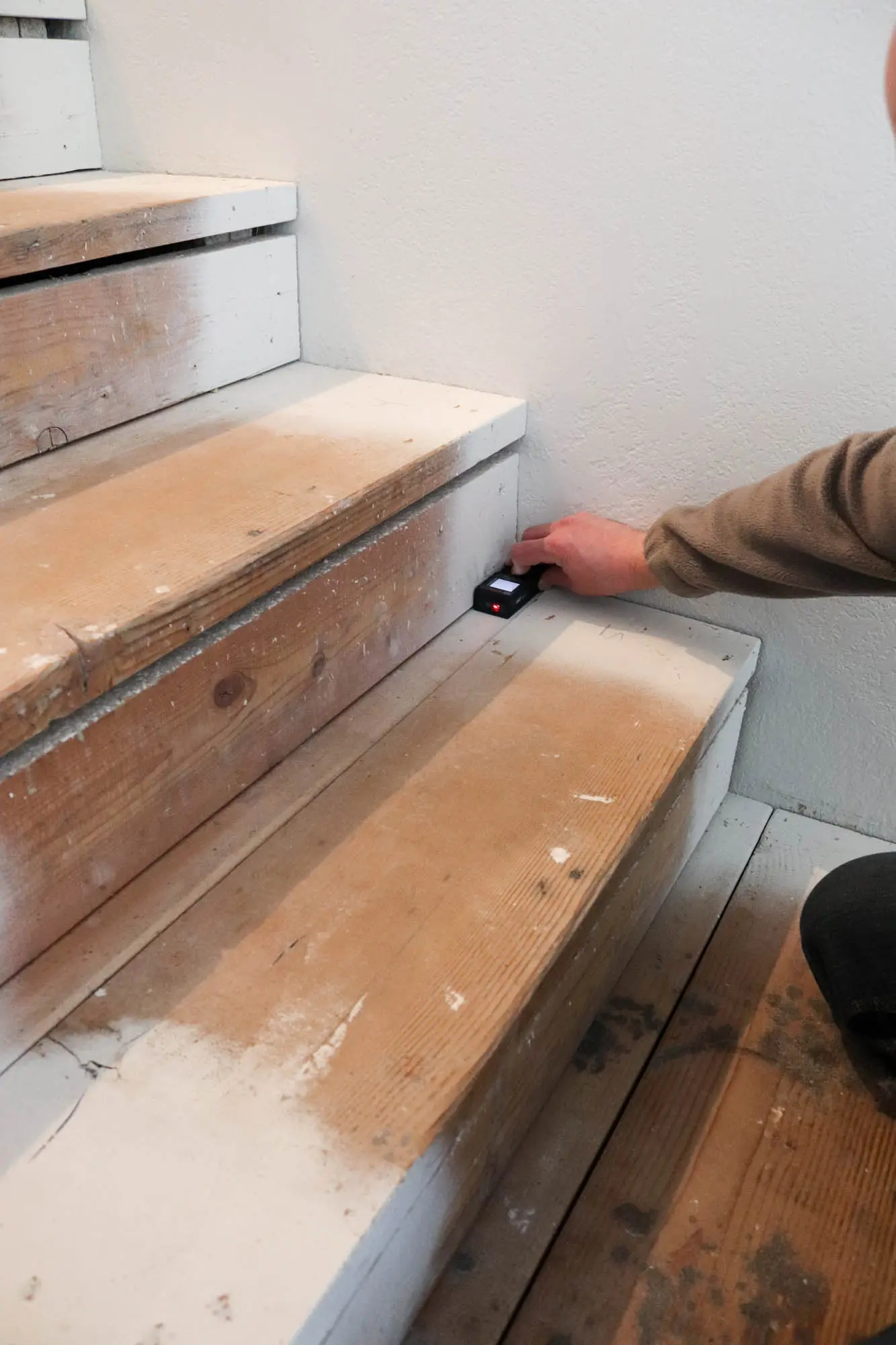 Diy Staircase Makeover The Wood Grain Cottage   Replacement Wood Stair Treads   Stair Case   Prefinished Stair   Stair Parts   Risers   Stair Nosing