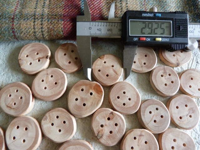 Lovely solid Birch buttons 3cm beautifully smooth