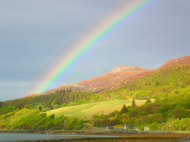 fantastic Rainbow this evening over the Watch-hill, Kyle of Tongue