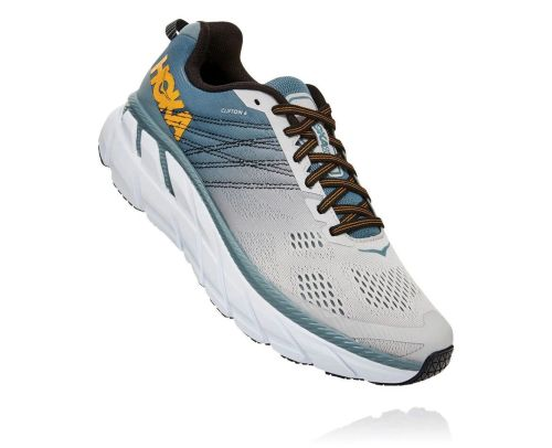 Hoka One One Mens Clifton 6 Lead Lunar Rock Front