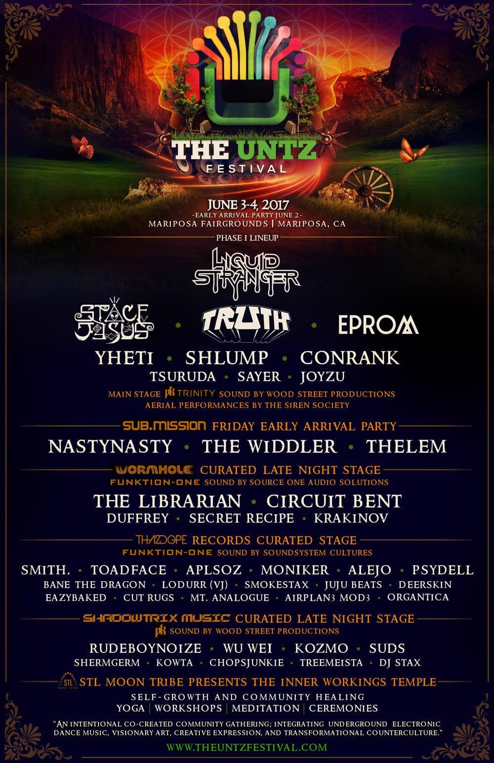 The Untz Festival 2017 Lineup