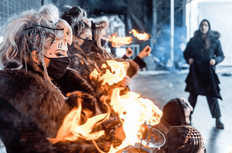 Meet the Badass All-Female Fire Breathers That Make Up The Hive