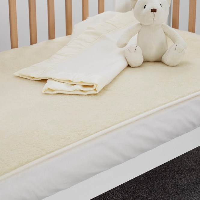 Wool Travel Cot Mattress Enhancer 65 X 96cm Loading Zoom