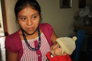 Mother brings malnourished daughter to clinic for evaluation.