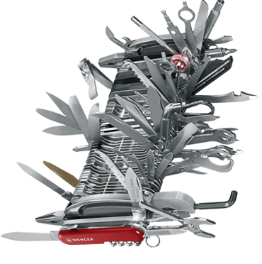 King of all multi-tool swiss army knives.