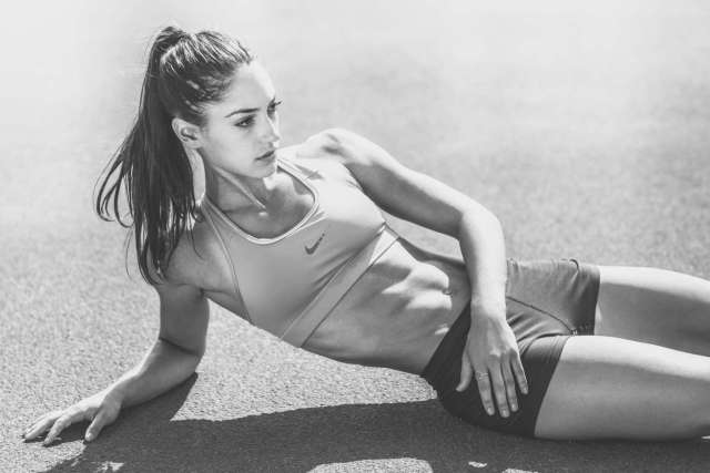 Allison Stokke, absolute stunner in my opinion. But who also recently complained about all of the 'negative' attention she got for being considered attractive, instead of for her pole vaulting skills. Despite releasing images like this.