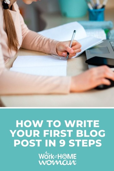 If you're a new blogger, you might be struggling with how to write your first blog post on WordPress. Here are 9 steps to get you started. #beginner #blogging #writing via @TheWorkatHomeWoman