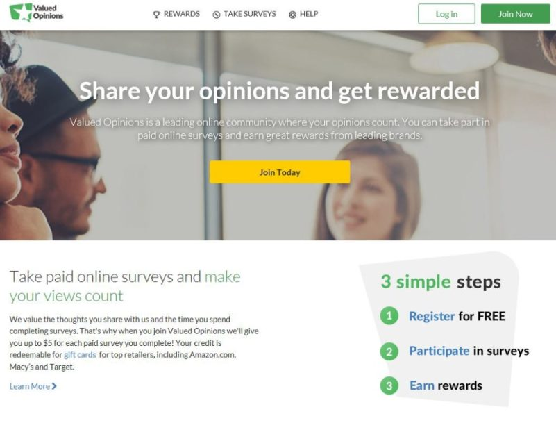 Valued Opinions - Make Extra Money with Paid Surveys