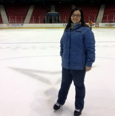 On the ice at Herb Brooks Arena