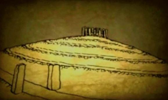 3 Pencil Drawing of Pyramid