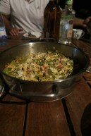 Bohnenomelette zum Abendessen