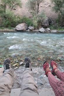 Der Fluss ist der Besuchermagnet im Tal