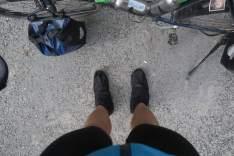 Alles wird vor dem Regen geschützt, auch die Schuhe