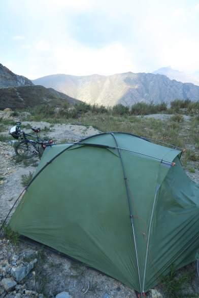 Morgens am Camp