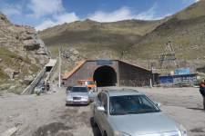 Tunnelausgang auf der anderen Seite