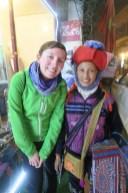 Nette Bekanntschaft mit einer Hmong-Frau