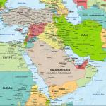 Digital Map Middle East Political 1307 The World Of Maps Com
