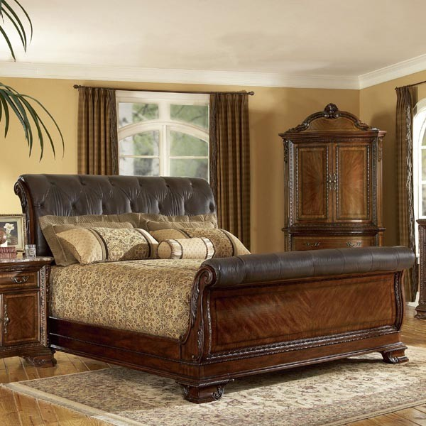 21 Marvelous Bedroom Designs With Sleigh Beds