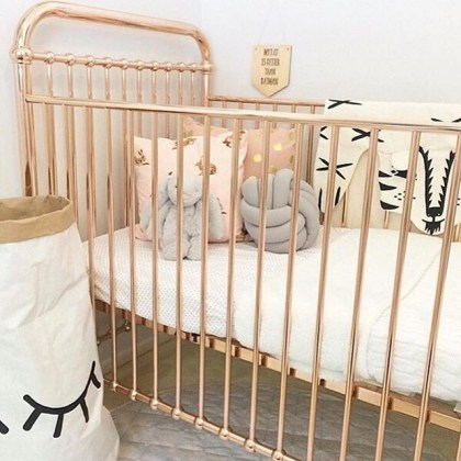 30 Serene Iron Crib Design Ideas For Your Cute Baby Iron Crib in Scandinavian Kids Bedroom