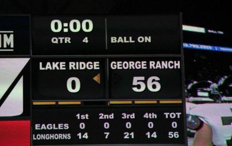 George Ranch Longhorns Varsity football team defeated  Lake Ridge Eagles