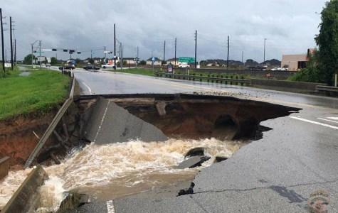 Damage done by Hurricane Harvey