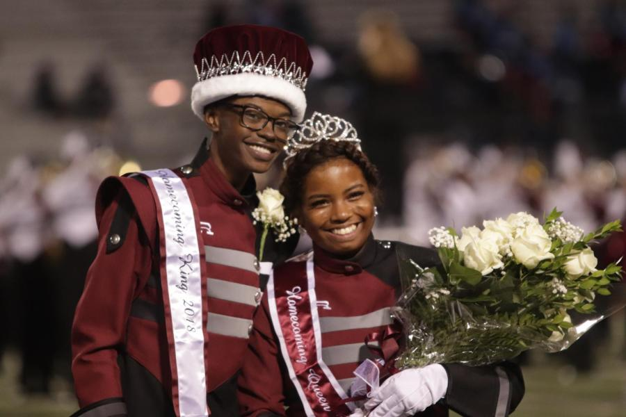 The 2018 Homecoming King and Queen