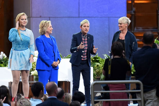 Hillary Clinton Whips Nae Naes With Ellen DeGeneres Amy