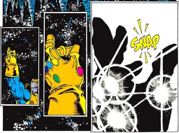 Thanos Snap Comic