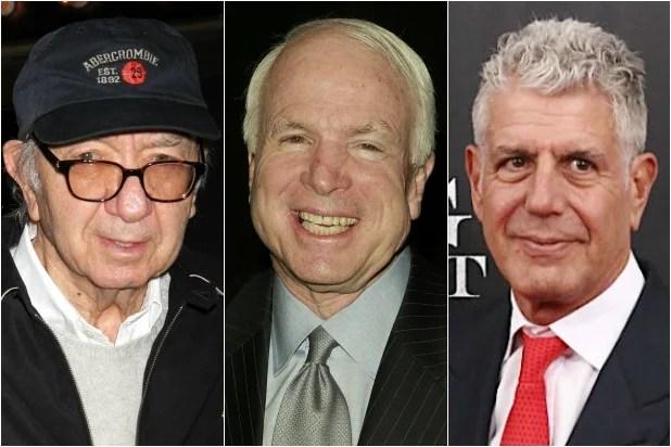 Neil Simon John McCain Anthony Bourdain