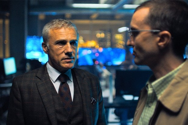 """Christoph Waltz and Aaron Poole in """"Most Dangerous Game"""""""