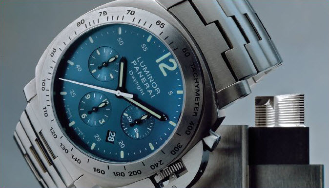 Panerai Chrono Daylight titanium mens watch