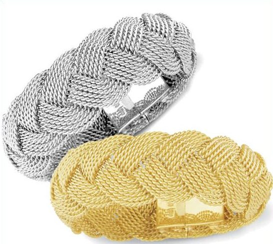 Turk's head knot platinum bracelet