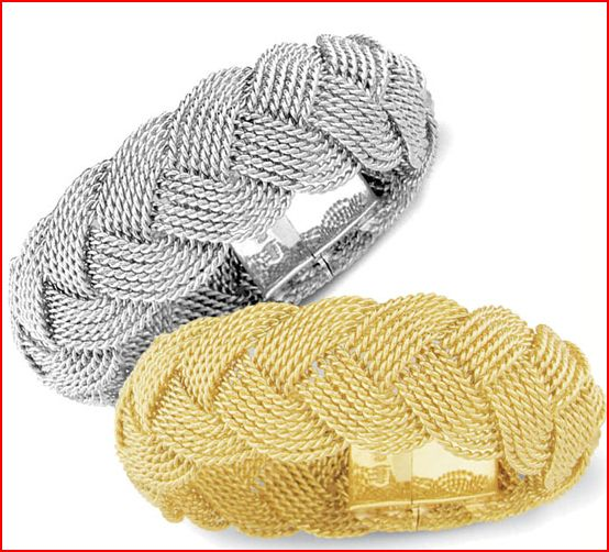 aga turks head bracelet platinum gold mariner style Platinum and 18K gold