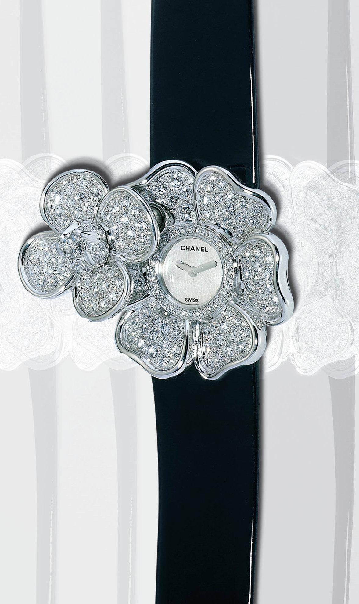 Chanel Secret Camelia Diamond Ladies Watch