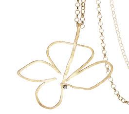 H. Stern Gold and diamond flower pendant designed by Oscar Neimeyer