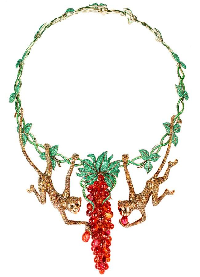Chopard high Jewelry Monkey Necklace