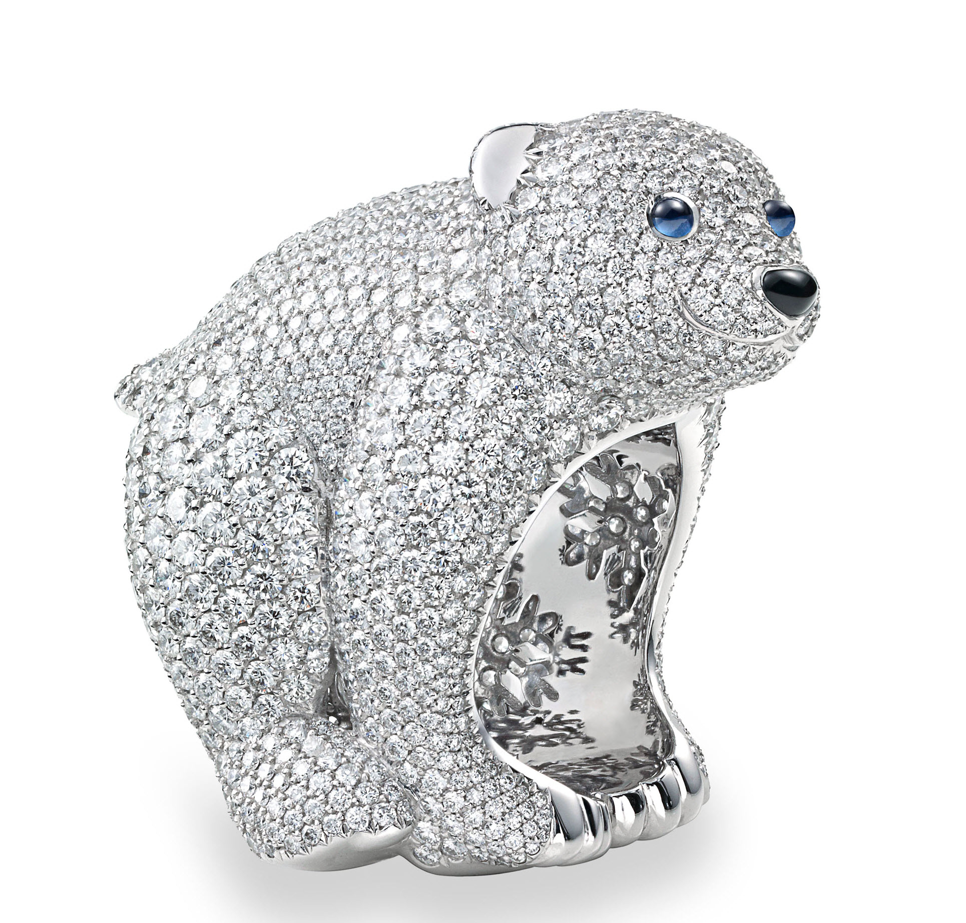 en gold us h risson polar bear hans ring diamonds white usa saphirres the diamond hedgehog boucheron