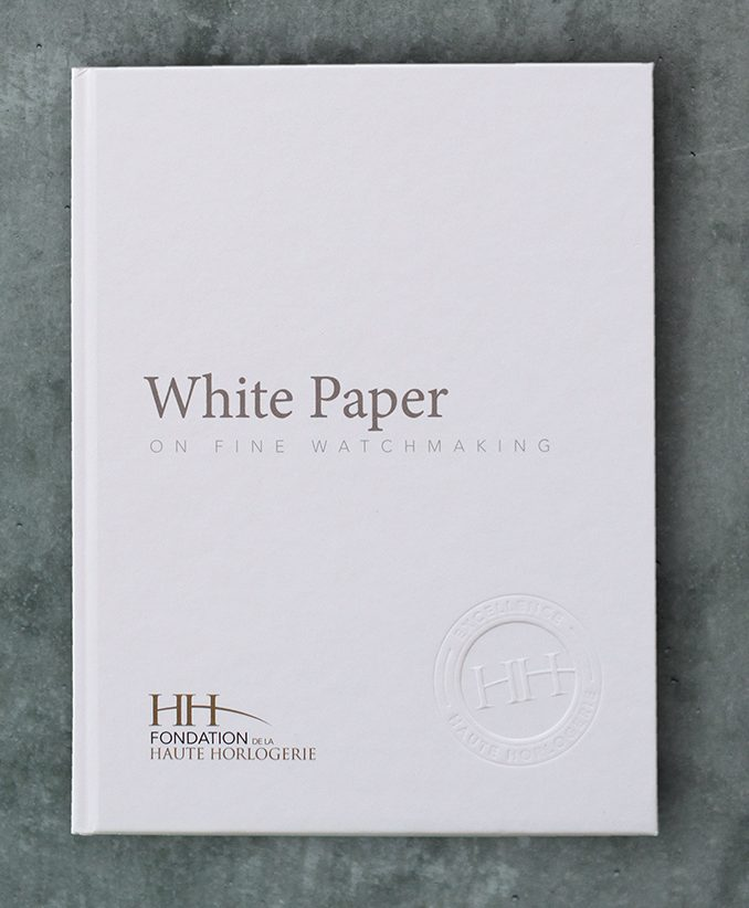 FHH The new White Paper on Fine Watchmaking