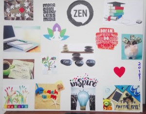2018 vision board reveal and law of attraction