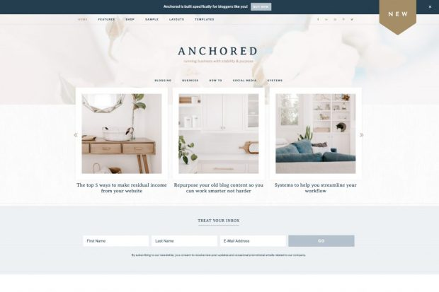 Restored316, Anchored Theme